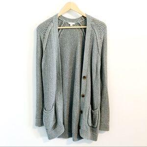 Gap chunky gray cardigan